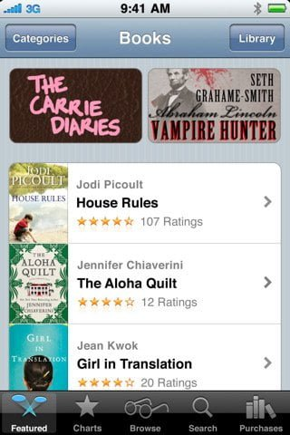 iBooks an awesome free app to download and read books on your iPhone