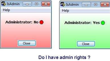 admin rights Windows 10
