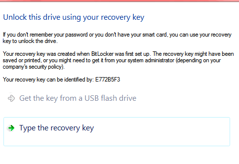 Unlock bitlocker drive