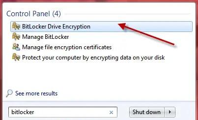 Windows 7 bit locker