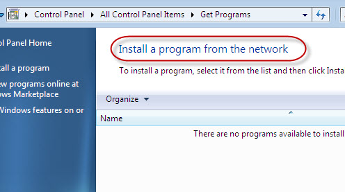 Get program maintains a list of installed program from network