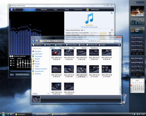 Windows Vista media plater 11 WMP11 Shellstyle theme