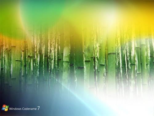 Windows 7 Net Green yellow wallpaper