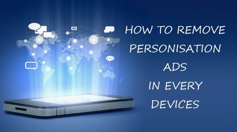 How to remove personisation ads