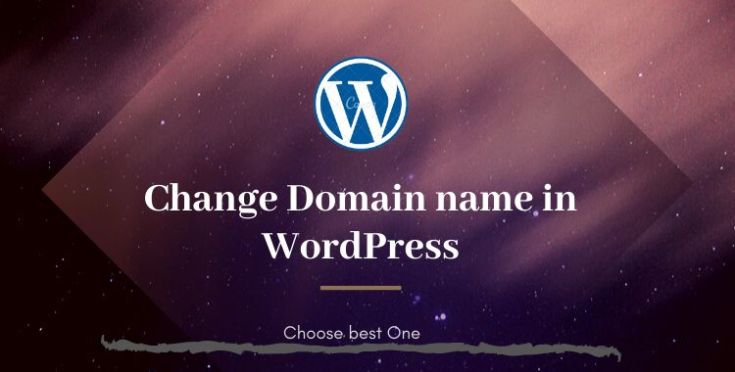 How to change the domain name on WordPress