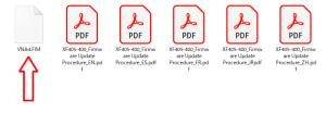 展開したファームウェアファイル