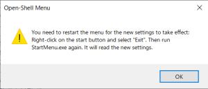 Open-Shell 再起動メッセージ