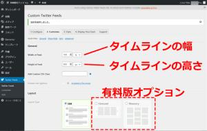 Custom Twitter Feed 表示サイズの指定