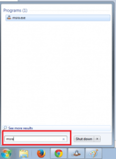 Type msra in search option
