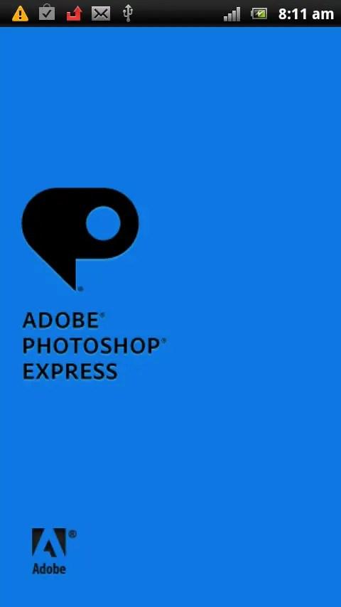 Start Adobe Photoshop Express