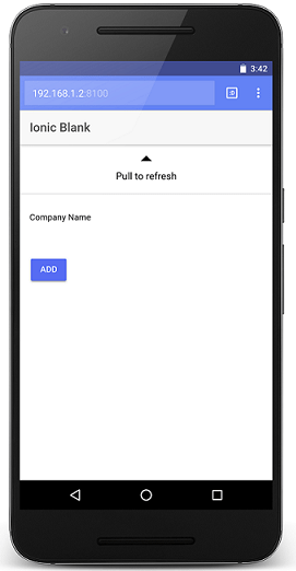 Pull To Refresh: Ionic 2