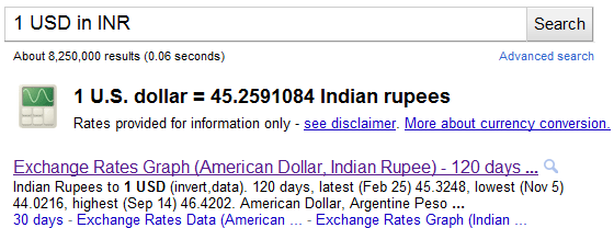 Google-currency-conversion-query