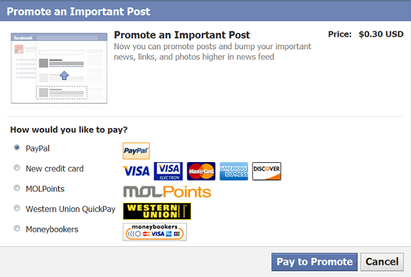 facebook-promote-payment-option