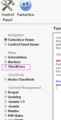 fantastico-wordpress