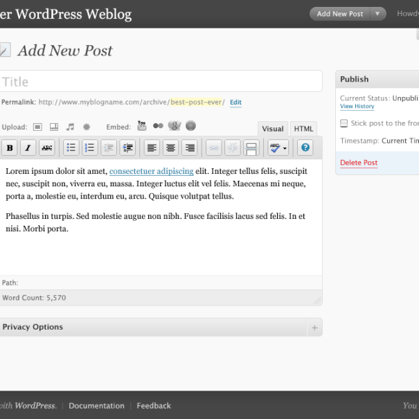 Wordpress2.7-newpost