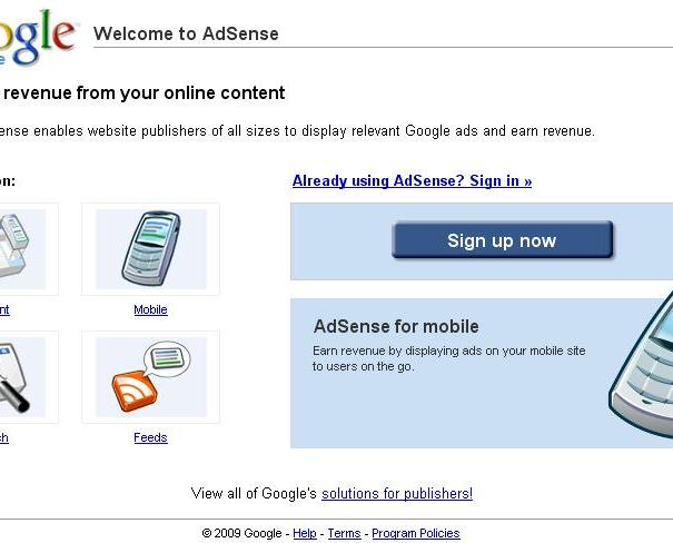 adsense-homepage
