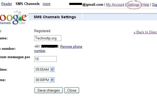 google-sms-settings