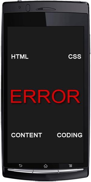 Mobile Web Design Avoiding Universal Errors
