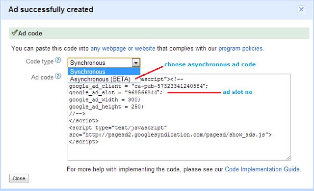 adsense-asynchronus-ad-code