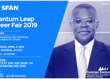 George Sarpong, MD of KIC Ghana leads SFAN's Speaker Roster for Quantum Leap Career Fair 2019