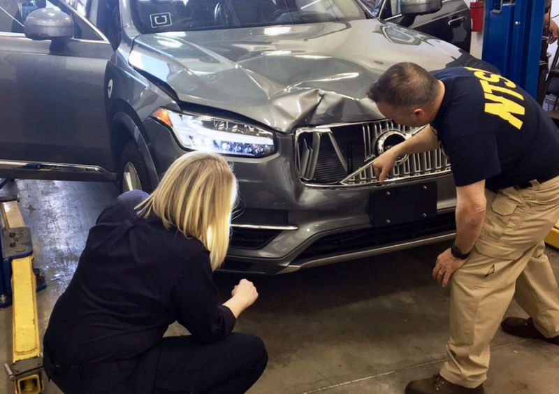 Feds Say that Emergency Breaking System Was Disabled on The Uber SUV That Hit Pedestrian