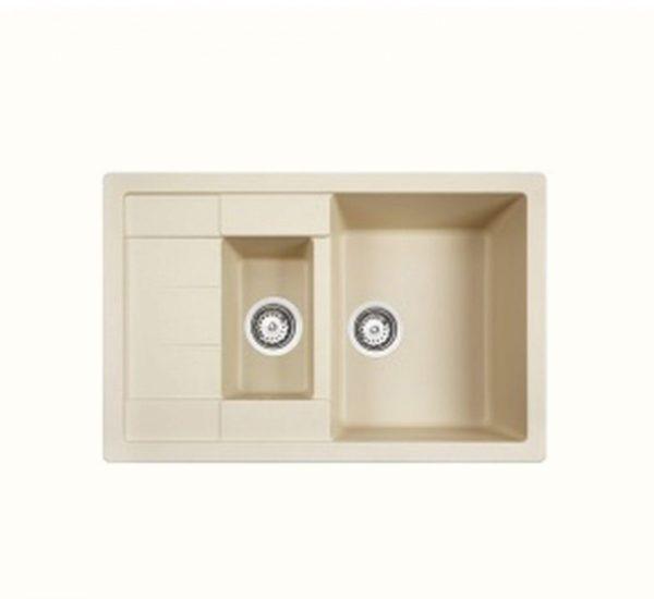 мивка за вграждане обръщаема авт. клапан за шкаф със светъл отвор 60 см ASTRAL 60 B TG СЛОНОВА КОСТ