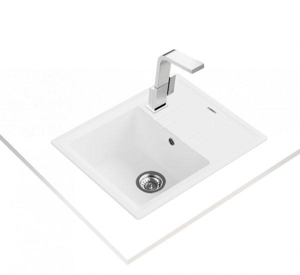 мивка обръщаема за шкаф 45 см STONE 45 S TG БЯЛА 1