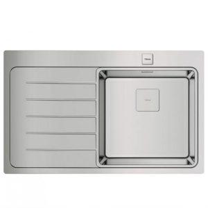 мивка за вграждане гладка десен отцедник авт. клапан за шкаф със светъл отвор 50 см ZENIT R15 1C 1E ДЯСНА
