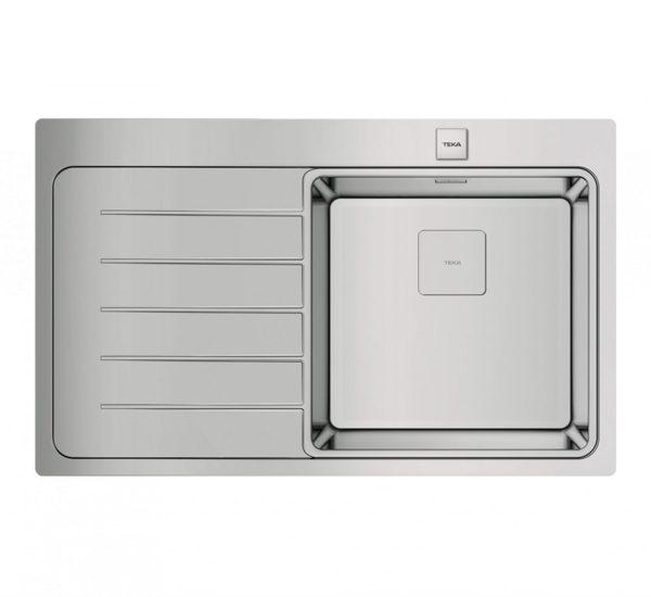 мивка за вграждане гладка ляв отцедник авт. клапан за шкаф със светъл отвор 50 см ZENIT RS15 1C 1E ЛЯВА 1