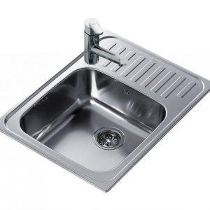 мивка за вграждане гладка обръщаема за шкаф със светъл отвор 50 см SUPER BOWL 1C ГЛАДКА 1