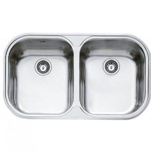 мивка за вграждане микролен за шкаф със светъл отвор 80 см STYLO 2С МИКРОЛЕН