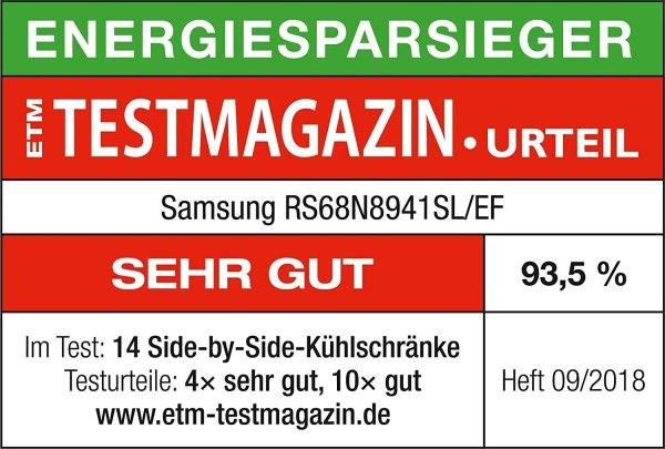 hladilnik samsung rs68n8941sl side by side dispenser za voda ledogenerator 7