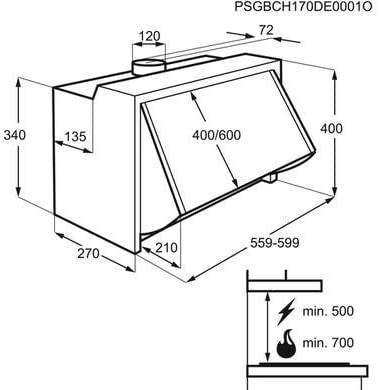 absorbator za vgrazhdane aeg deb2631s 60sm 370 m3 h 3