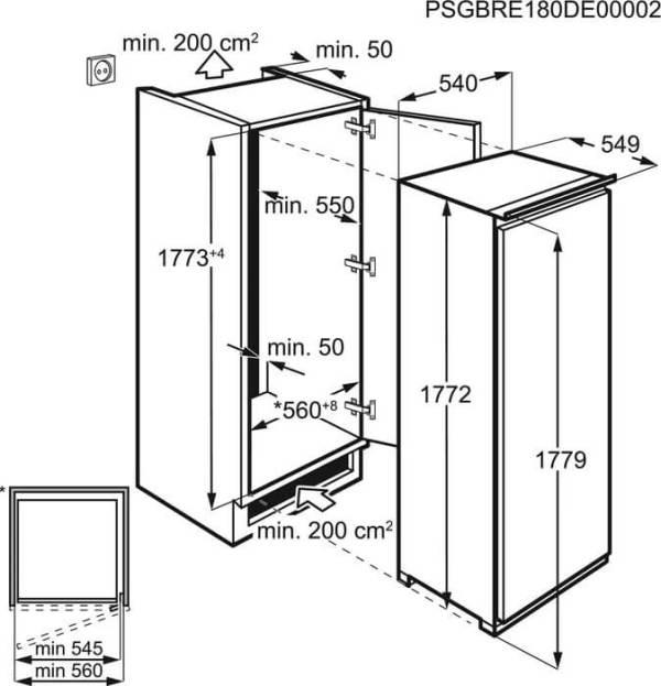 hladilnik za vgrajdane s edna vrata electrolux efs3df18s 4