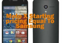 Moto X Starting At A Price Equal To Samsung