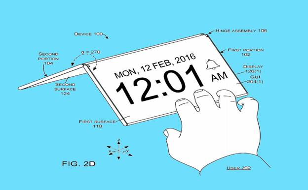 Patent image microsoft foldable smart phone