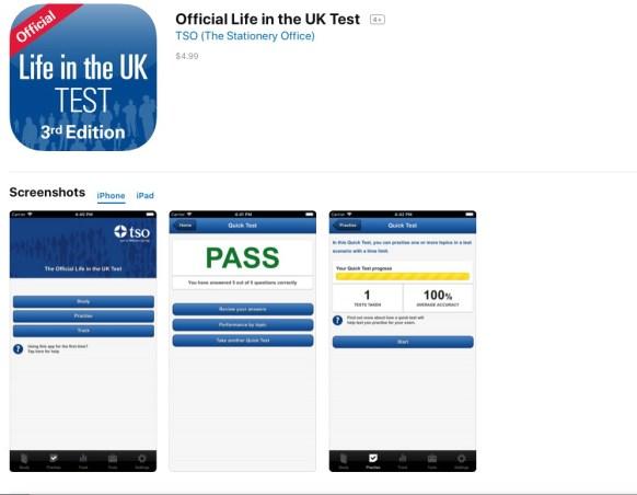 【永住権】iPhoneアプリでLife in the UKのテスト勉強中