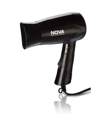Nova NHP 8100 Silky Shine 1200 Watt Hot And Cold Foldable Hairdryer Black BEST HAIR DRYER