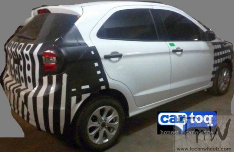 2015 Ford Figo hatchback spy pic