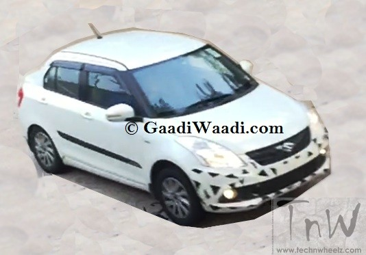 Spy Pics: 2015 Maruti Suzuki Swift Dzire facelift spotted
