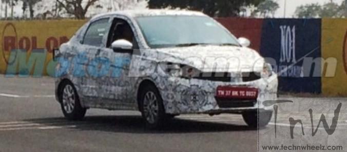 Spy Pic: Tata Kite Compact Sedan spied testing @ Kari track