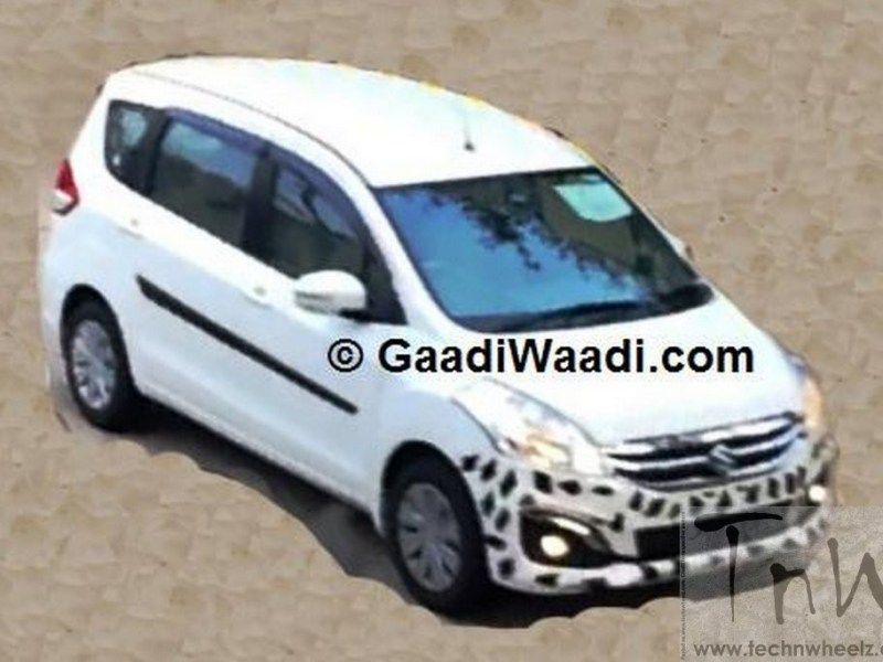 Spy Pics: 2015 Maruti Suzuki Ertiga spied. Gets heavily chromed grille