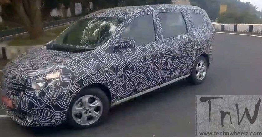 Spy Pics: Renault Lodgy MPV spied. Launch expected by March 2015