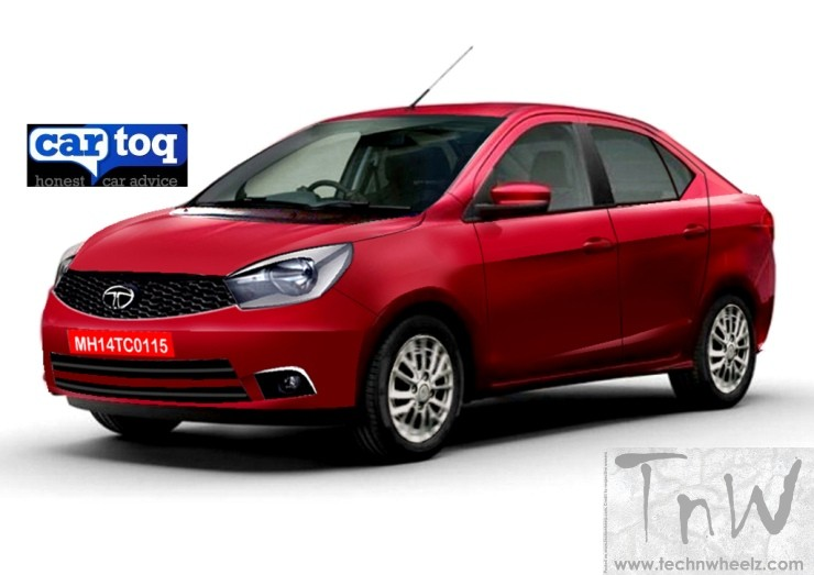 Tata Kite Compact Sedan speculative rendering