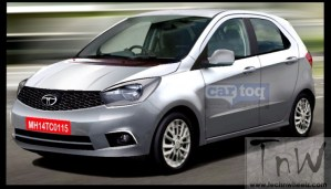 Tata Kite hatchback speculative rendering