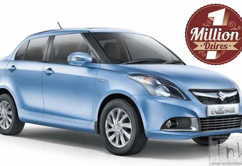 10 lakh units of Maruti Suzuki DZire sold in India