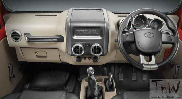 2015 Mahindra Thar facelift dashboard