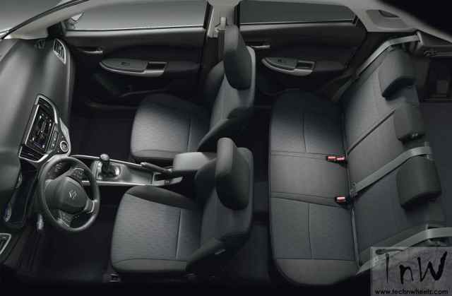 Maruti Suzuki Baleno hatchback interior space