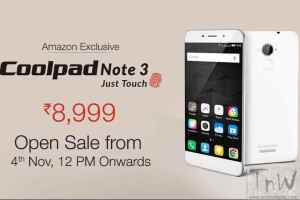 15k units of Coolpad Note 3 snapped up in less than 5 minutes