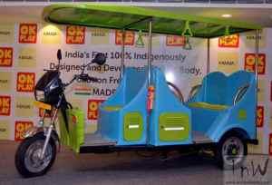 OK Play India launches E-Raaja electric rickshaw